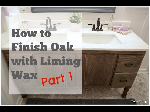 My DIY Bathroom Vanity: How to Finish Oak With Liming Wax - PART 1