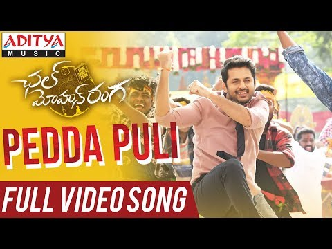 Pedda Puli Full Video Song | Chal Mohan Ranga Movie Songs | Nithiin,Megha Akash | Thaman S