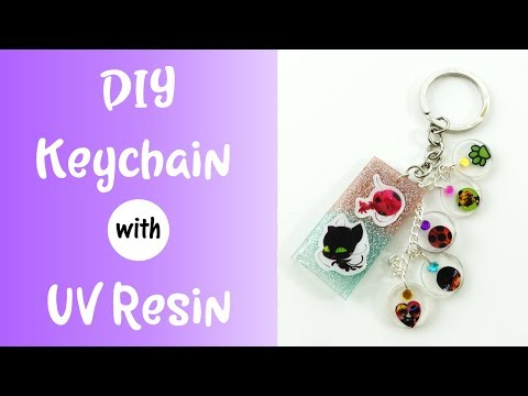 Miraculous Ladybug Craft - UV Resin Keychain and Charm Tutorial