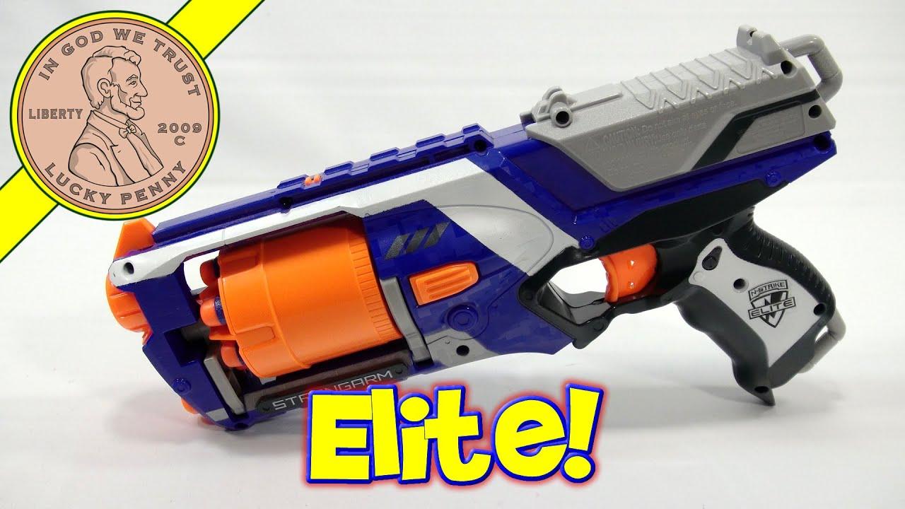 Nerf N Strike Elite Slam Fire Strong Arm Gun & New Shooting Gallery