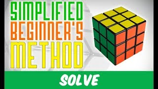 The Simplified Beginner's Method for the Rubik's Cube (4 algorithms only !)
