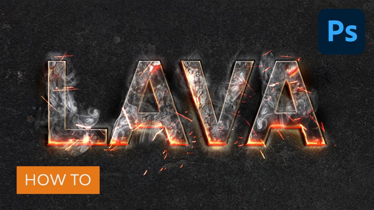 Create a Magma Hot Text Effect in Photoshop   Photoshop Tutorial