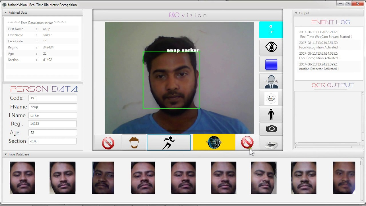 ExoVisix | JavaCV , JavaFX & MySQL Face Recognition & Attendance System  With Source Code