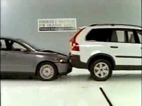 Crash Test: Volvo S40 vs XC90. - YouTube
