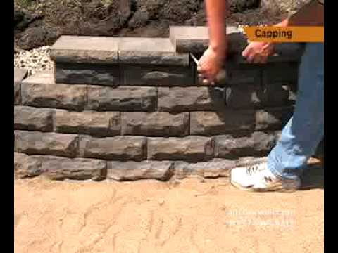 How To Cap A Small Retaining Wall Step By Instructions