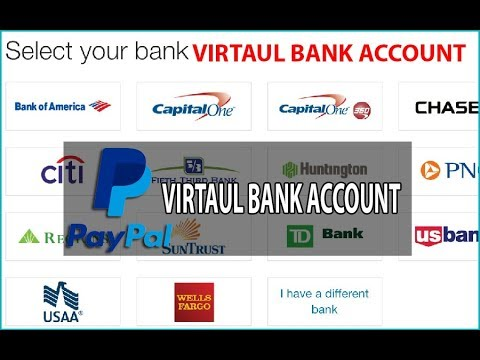 Paypal Verify with Virtual Bank Account   Paypal VBA   Virtaul Bank Account    US Virtual Bank