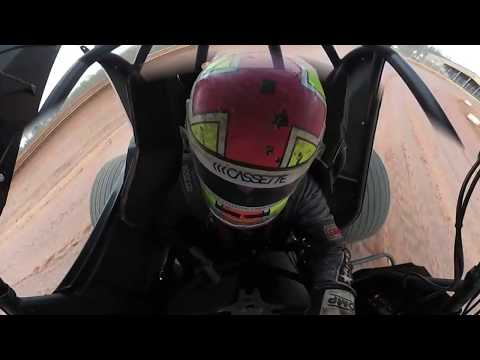 Cale Conley Sharon Speedway practice session overhead 360 camera