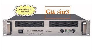 Cục đẩy Class H thế hệ mới, SOUNDSTARDAN MX650 nâng cấp mạnh mẽ vượt trội CA9, CA9+ về mọi mặt