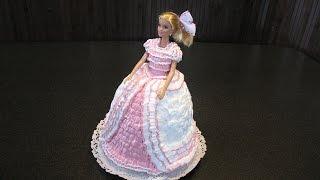 Торт для девочки. Торт Кукла. Заварной крем рецепт. Украшение торта.