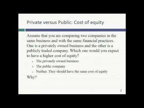 Session 20: Private Company Valuation