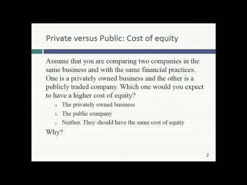 Session 20: Private Company Valuation