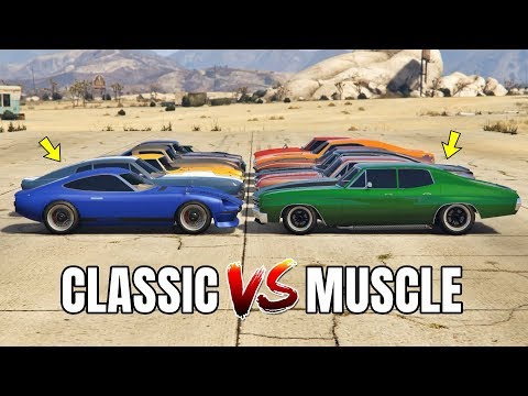 GTA 5 ONLINE - CLASSIC VS MUSCLE (WHICH IS FASTEST?)