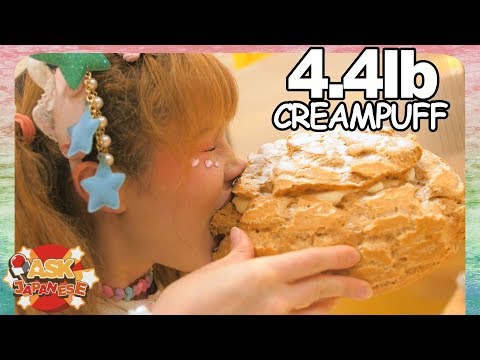 JAPAN'S GIANT 10 INCH CREAM PUFF! Secret Food Item In Ginza, Tokyo