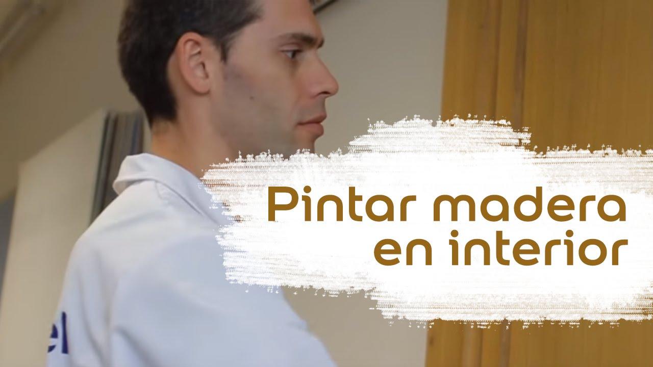 C mo pintar madera en interior bruguer youtube for Pintar puertas de blanco en casa