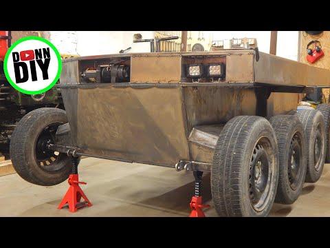 Tracked Amphibious Vehicle Build Ep. 17 - LED Lights & Upper Hull