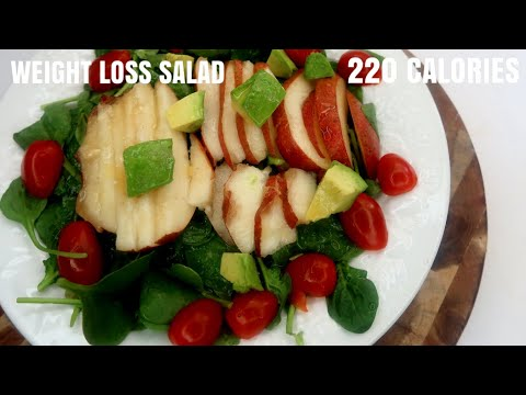 Weight Loss poached Pear Salad - Low Calorie 220 Calories