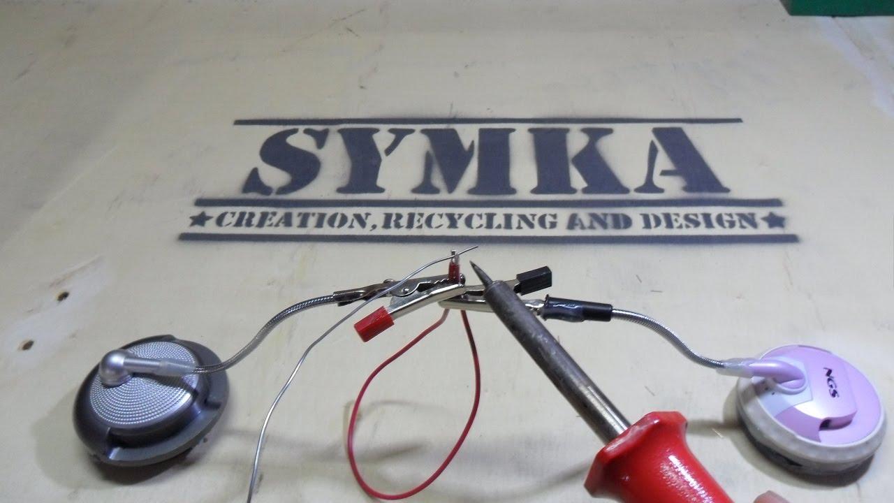 Tercera Mano Para Soldar Casera Con Cascos De Pc By Symka
