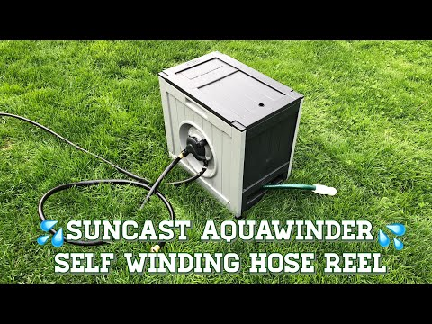 Suncast Aquawinder : Auto Winding Hose Reel : Addition To My Off The Grid Garden