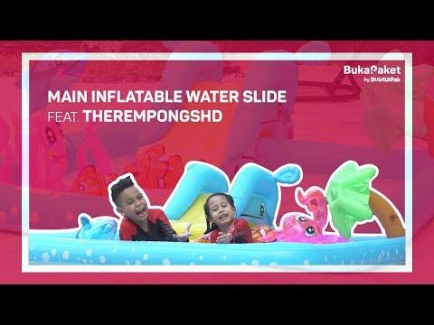 Inflatable Water Slide: Buat Kolam Renang Sendiri ala TheRempongs  BukaPaket for Kids