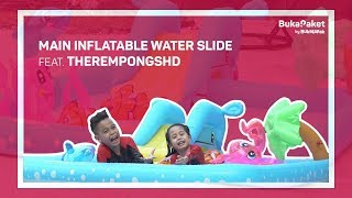 Inflatable Water Slide: Buat Kolam Renang Sendiri ala TheRempongsHD | BukaPaket for Kids