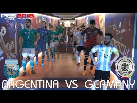 PES 2018 (PC) Argentina v Germany @ Camp Nou | Official 2018 FIFA World Cup Kits & Ball