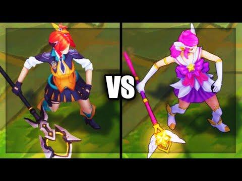 Battle Academia Lux vs Star Guardian Lux Epic Skins Comparison - League of Legends