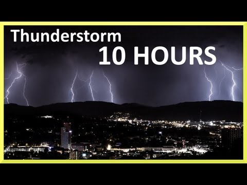 Thunderstorm and rain sounds 10 HOURS