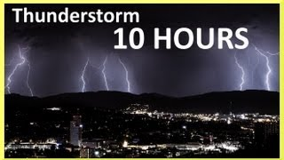 Repeat youtube video Thunderstorm and rain sounds 10 HOURS