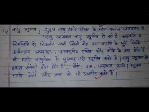 Hindi Essay on Pollution#Nibandh# - YouTube
