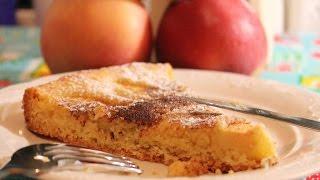 Яблочный пирог. Очень нежный и вкусный. Легкий рецепт.