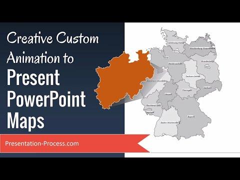 Creative Custom Animation To Present PowerPoint Maps