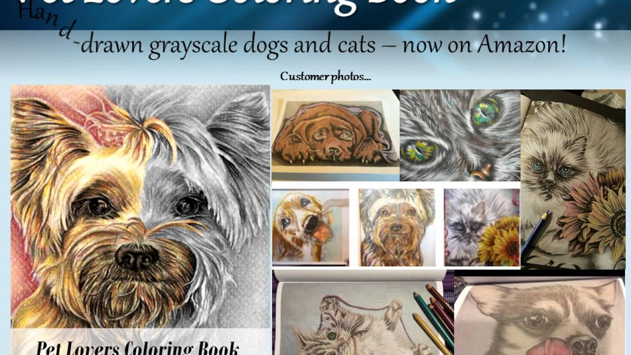 NEW Pet Lovers Coloring Book Here Are Some Customer Photos