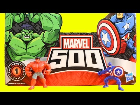 Marvel 500 Series 1 Surprise Blind Bags Box Opening Possible Hulk