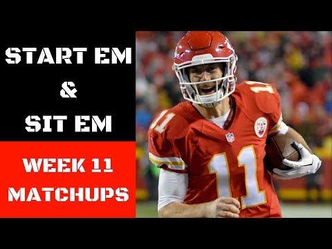 NFL Week 11 Start Em and Sit Em Matchups   Fantasy Football 2017