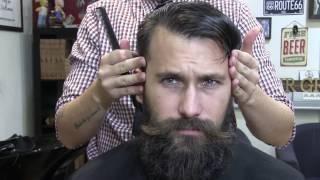 Tutorial de barbería: Corte de pelo y Arreglo de barba medía con ritual.