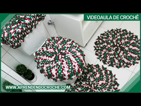 Jogo De Banheiro Em Croche Natal