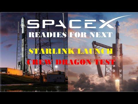 SpaceX readies next Starlink launch, Crew Dragon test