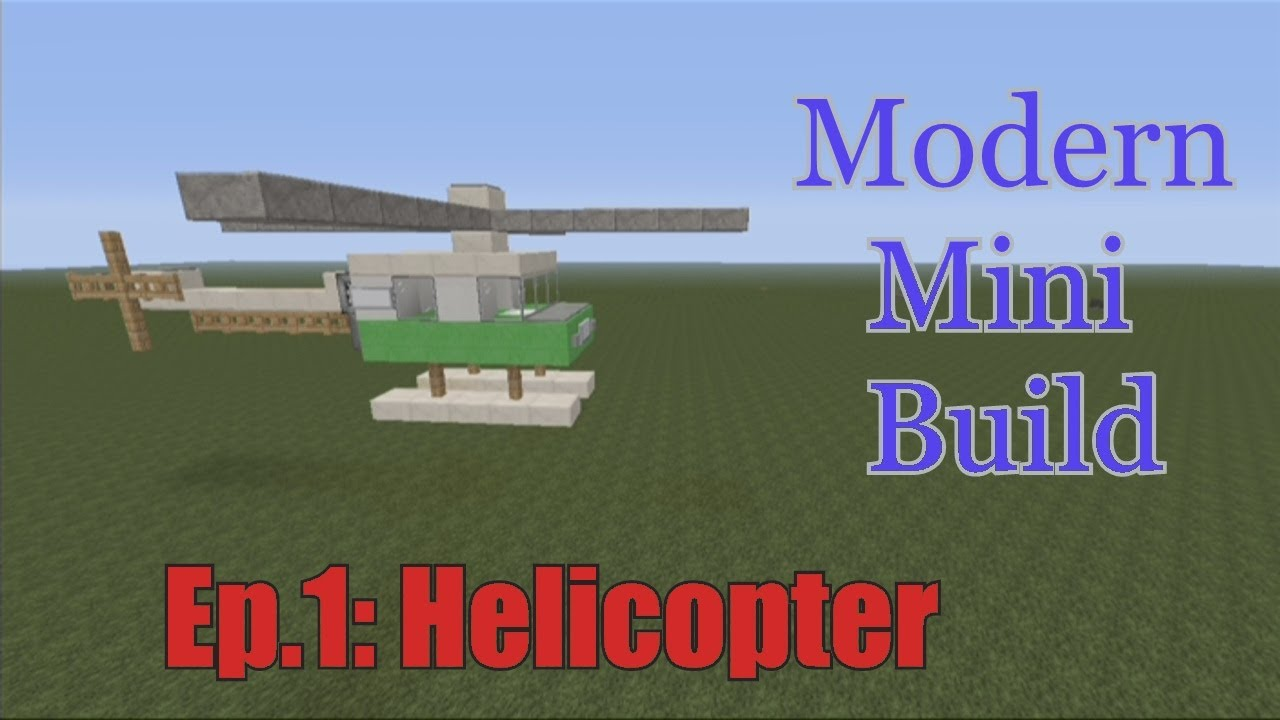 Minecraft Xbox 360 - Modern mini build Episode 1: Helicopter - YouTube