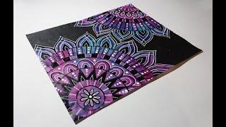 Mandala Flowers Doodle Mixed Media Art #LoveSpringArt