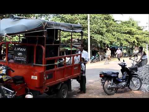 Weird Karaoke service cart in Kinpun, Myanmar - Burma