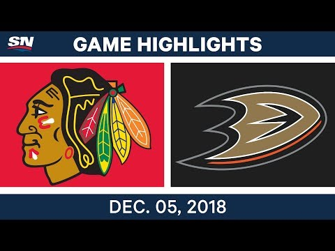 NHL Highlights | Blackhawks vs. Ducks - Dec 5, 2018
