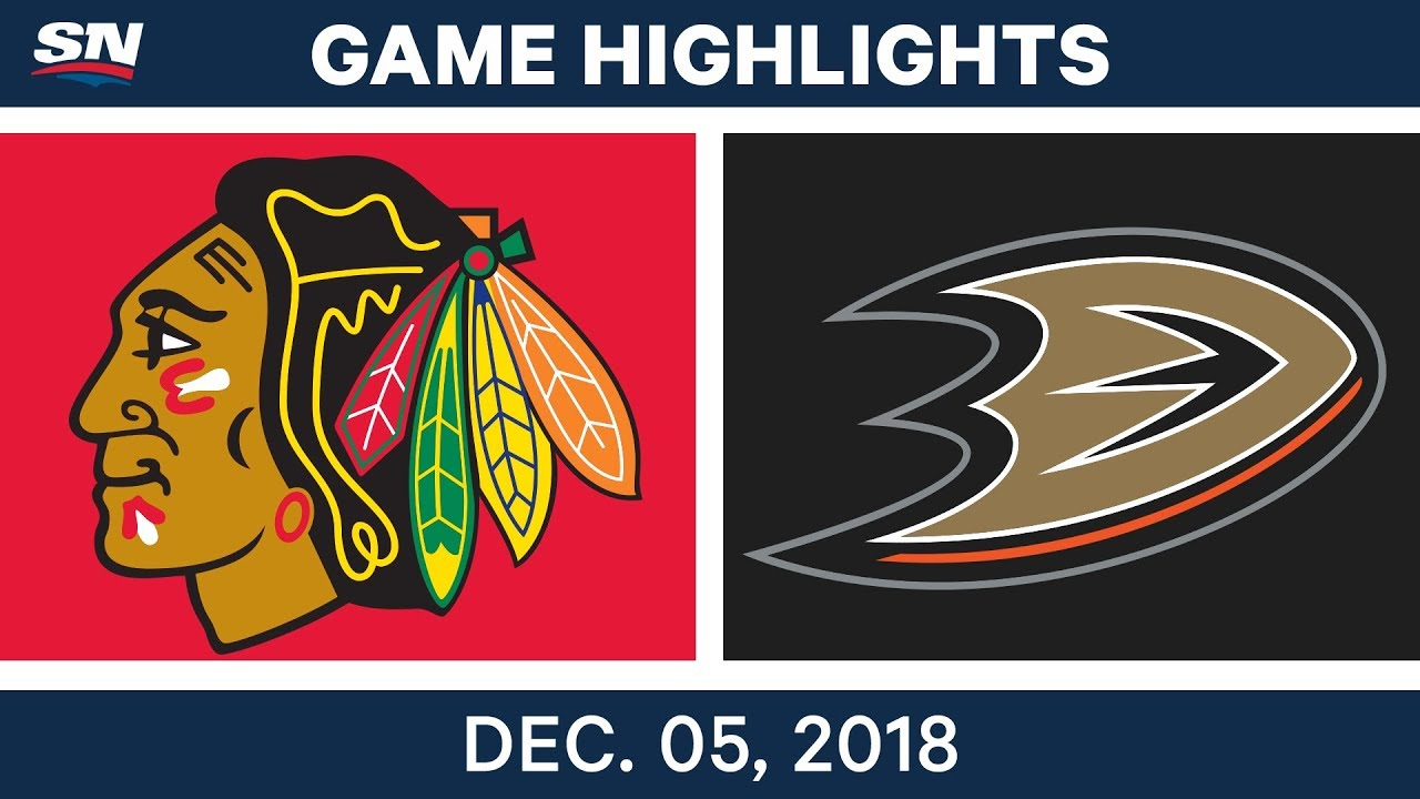 NHL Highlights | Blackhawks vs. Ducks - Dec 5, 2018