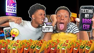 FLIRTING WITH MY BROTHERS EX GIRLFRIEND TO SEE HOW HE REACTS.. MUKPRANK🌚EXTREME CHEESY TACO MUKBANG