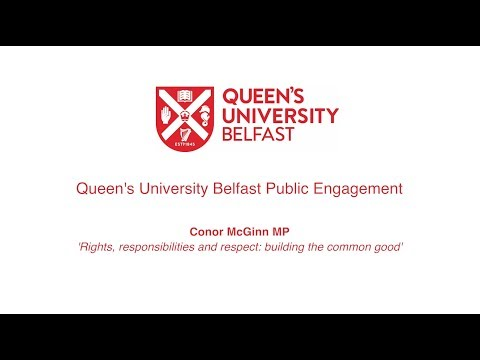 Conor McGinn MP, Equality and Diversity Lecture