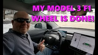 Tesla Model 3 Formula 1 style composite wheel finished! My wildest wheel yet!