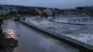 Perranporth Cornwall Tidal Surge 7.40am Sunday 5th January 2014