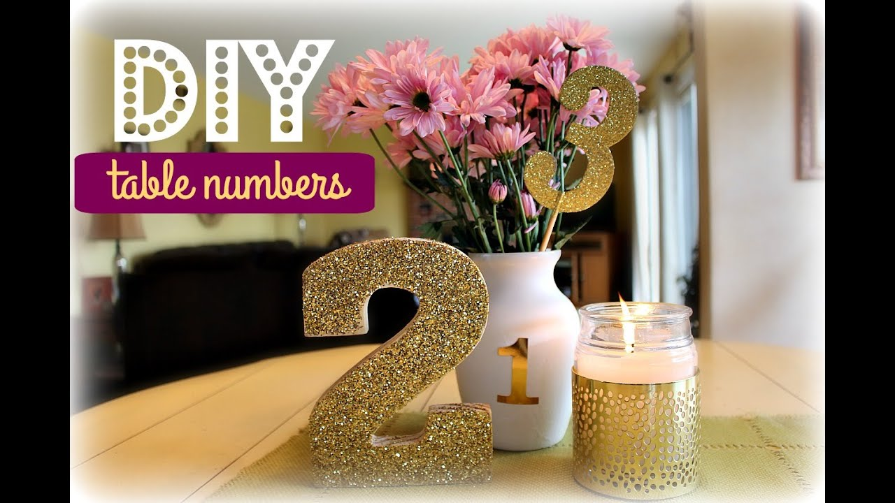 Diy Table Numbers White Gold Edition Kelly Lamich Youtube