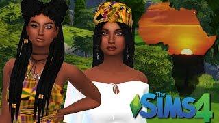 سيمز 4 | إنشاء-a-Sim | الأفريقية الأخوات التوأم l