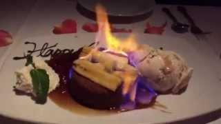 Hot Banana Foster Butter Cake With Fresh Pecan Ice Cream
