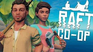 NOVA SÉRIE??   RAFT CO-OP #01 - BRODaria em ALTO MAR (Survival Gameplay)